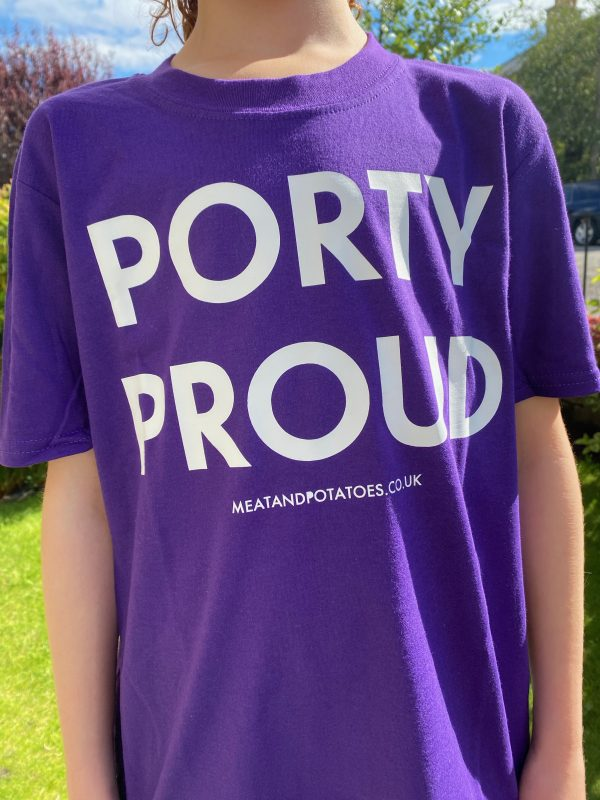 Meat and Potatoes Porty Proud Purple shirt