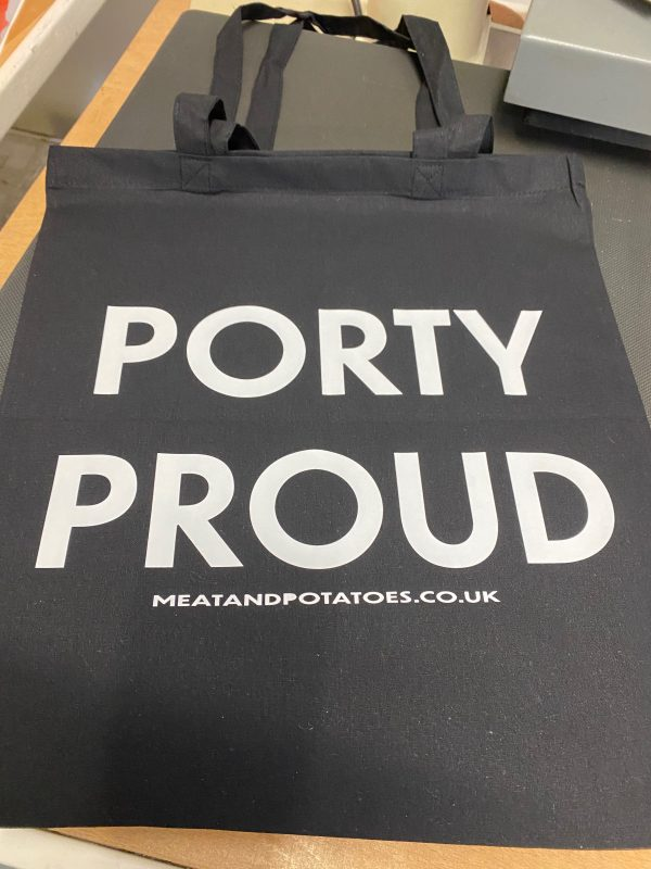 Meat and Potatoes tote shopper black