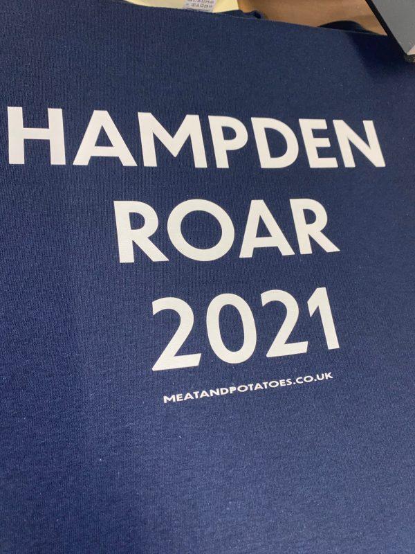 Meat and Potatoes Hampden Roar 2021 Navy shirt